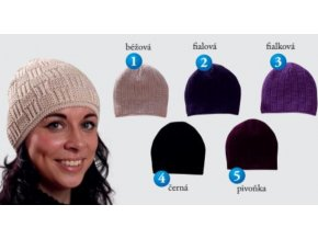 Pletex 409 dámská pletená zimní čepice