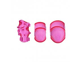 Spokey BUFFER - 3-dílná sada dětských chráničů, růžové