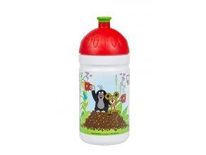Zdravá lahev Krtek a jahody 0,5l - červené