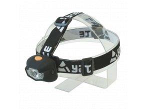 Yate PANTER 3 W CREE+2 LED čelová lampa černá