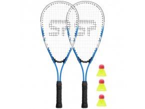 Spokey BUGY Sada na speed badminton - 2 x raketa, 3 x míček, obal