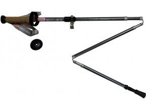 Speciální 5-dílné trekingové hole s korkovou rukojetí LTH134 - 1 pár s příslušenstvím 115 - 135 cm
