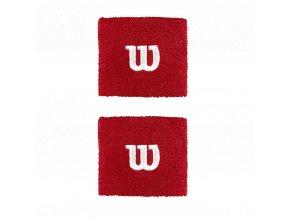 Wilson Wristband W Red sportovní potítka