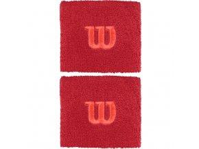 Wilson Wristband W Red/Pink sportovní potítka