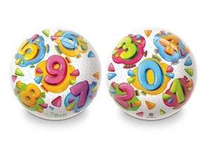 Gumový potištěný míč Čísla 230 mm