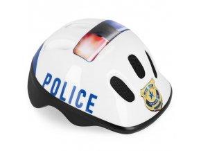 Spokey POLICE - Dětská cyklistická přilba 44-48 cm