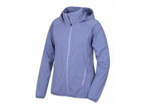 Husky Sally L dámská softshellová bunda světle modrofialová