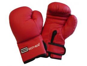 Acra BR10/1 Boxerské rukavice PU kůže červené