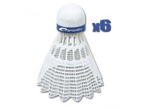 Spokey SHOOT BLUE Badmintonové míčky 6 ks