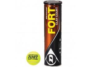 Dunlop Fort Clay Court tenisové míče 4ks