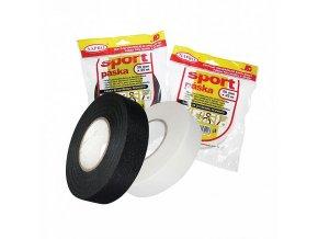 Sportpáska (textilní páska) na hokejky 2,5 cm x 25 m