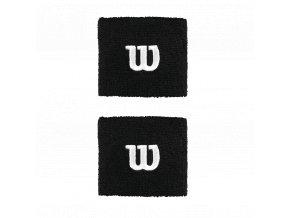 Wilson Wristband W Black sportovní potítka