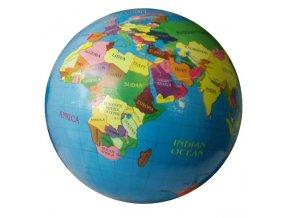 Gumový potištěný míč Zeměkoule