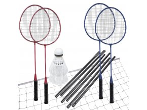 Spokey FUN START-Sada na badminton, 4 rakety,síť+sloupky,míčky