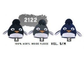 Capu 2122 Tučňák dětská pletená zimní čepice