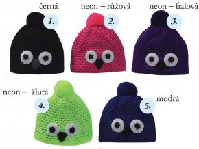 Pletex H060 Sova dětská pletená zimní čepice