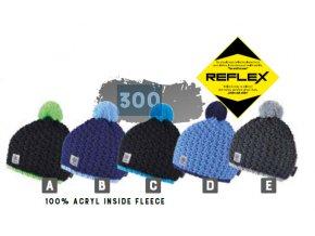 Capu 300 Reflexní dětská pletená zimní čepice