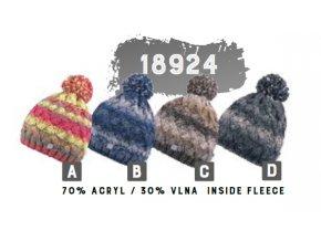 Capu 18924 dámská pletená zimní čepice