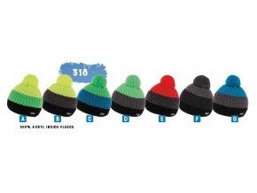 Capu 318 pletená zimní čepice