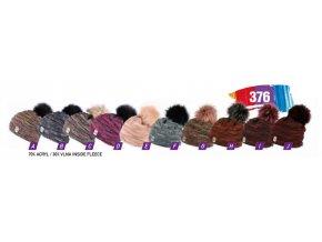 Capu 376 dámská pletená zimní čepice