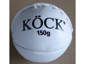 Kriketový míček atletika pravá kůže bílý