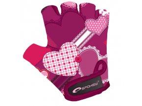 Spokey HEART GLOVE Dětské cyklistické rukavice