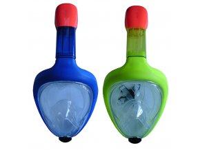 Celoobličejová potápěčská maska junior se šnorchlem velikost S