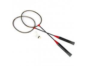 Spokey BADMNSET1 Sada na badminton - 2 x raketa, košíček, obal
