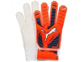 PUMA EVOPOWER GRIP 4 Brankářské rukavice oranžovo-bílo-černé