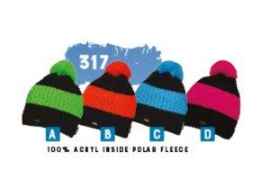 Capu 317 pletená zimní čepice junior