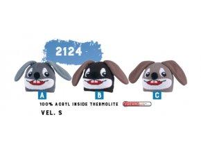 Capu 2124 Zajíc dětská pletená zimní čepice