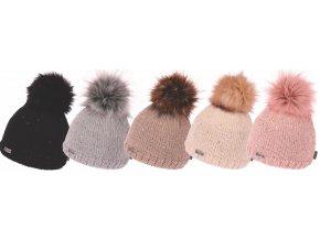 Capu 388 dámská pletená zimní čepice