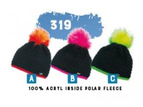 Capu 319 dámská pletená zimní čepice