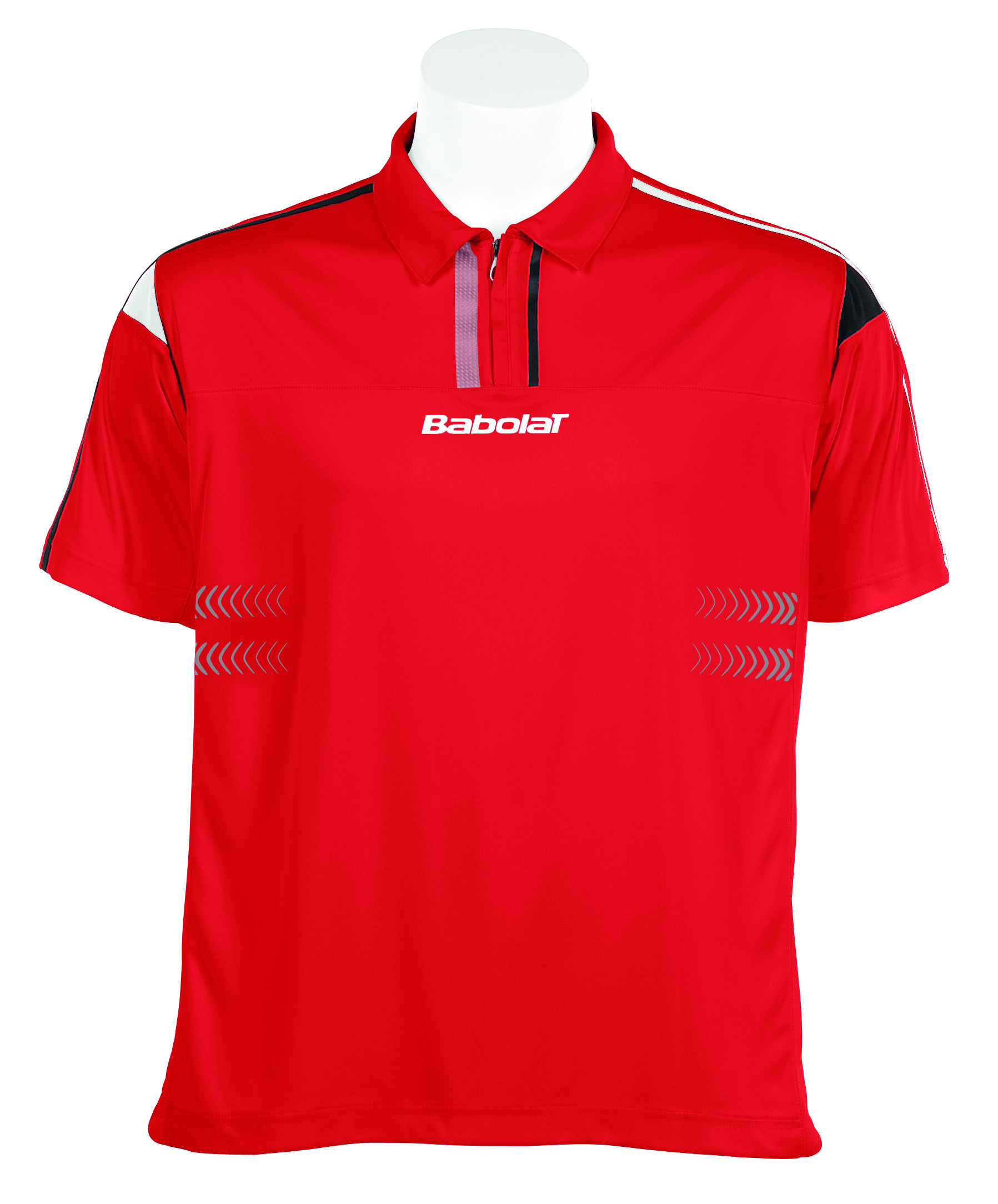 Chlapecké triko Babolat Polo Half Zip Boy Performance red Velikost: 128