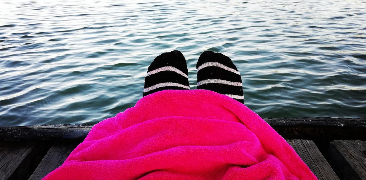 U vody-ponožky