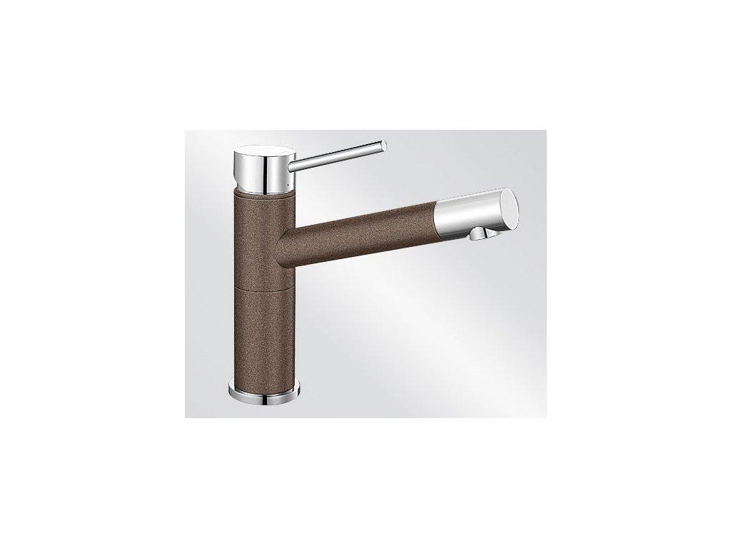 Blanco ALTA Compact Silgranit-look dvoubarevná kávová/chrom
