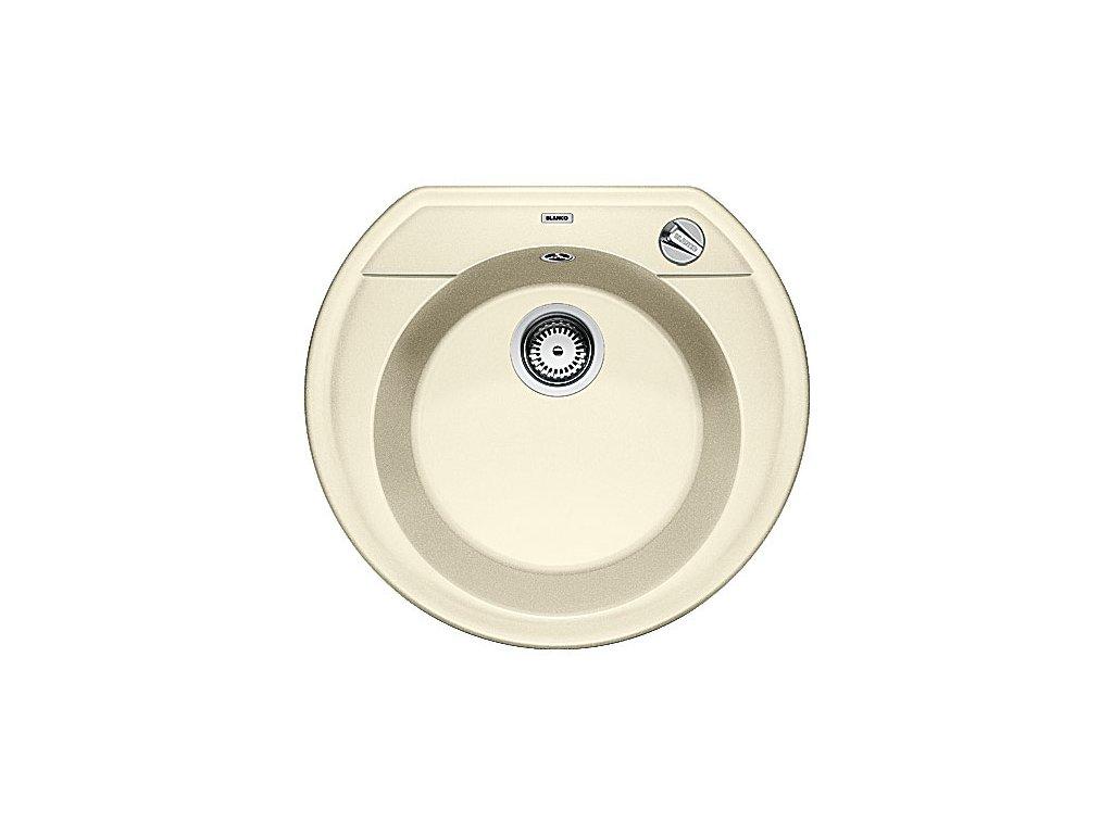 Blanco RONDOVAL 45 Silgranit jasmín s excentrem
