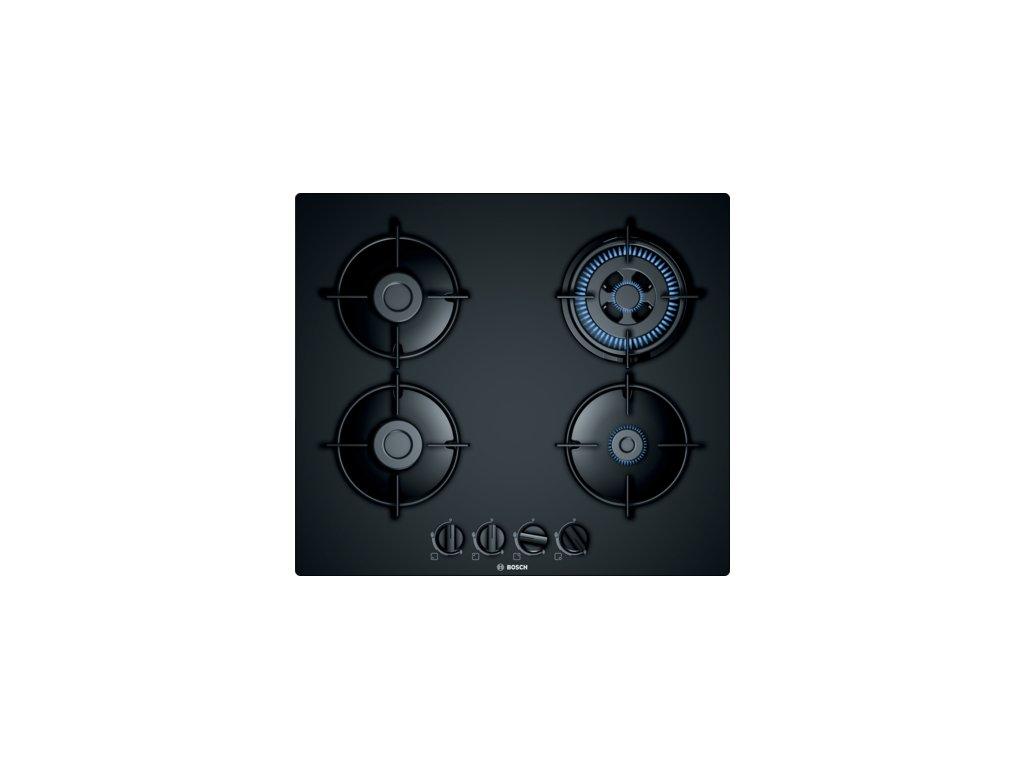 Serie | 4 Plynová varná deska 60 cm Tvrzené sklo, Černá PNH6B6B10