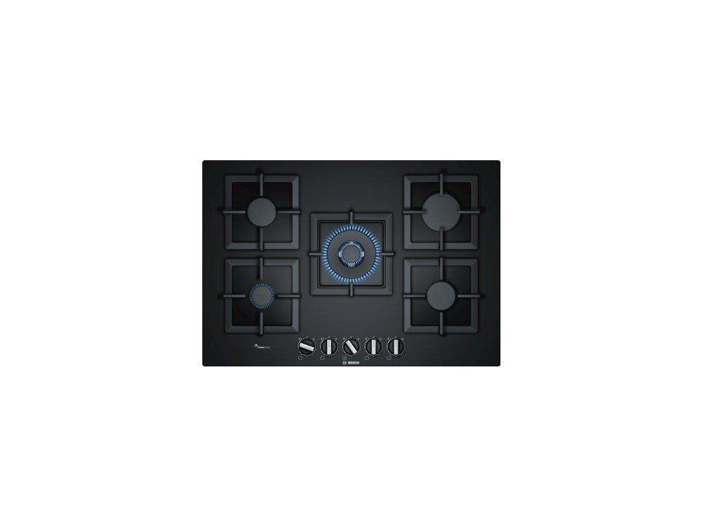 Serie | 6 Plynová varná deska 75 cm tvrzené sklo, Černá PPQ7A6B20