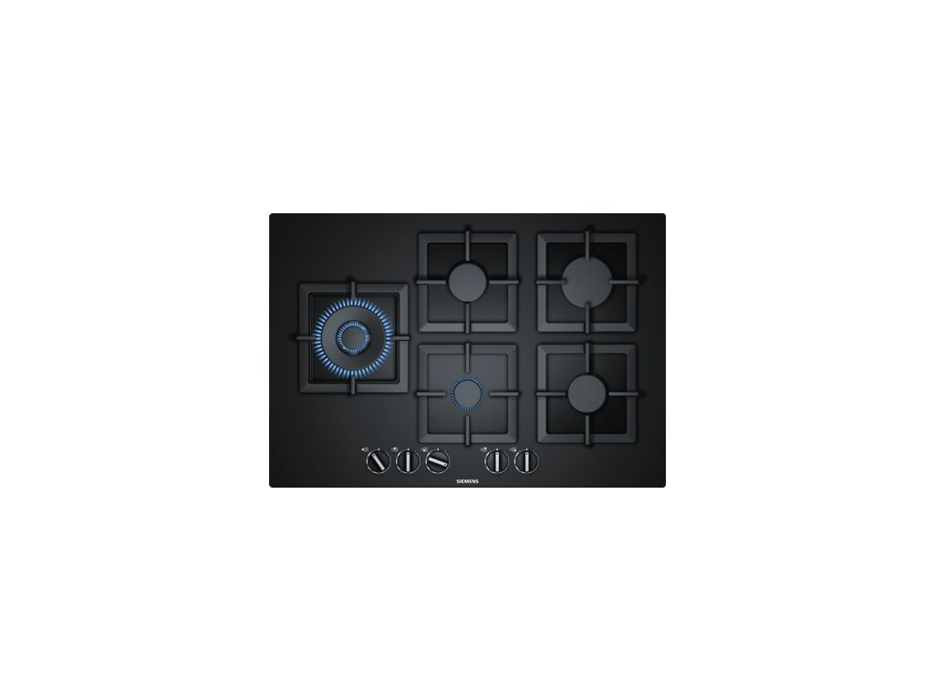 iQ500 Plynová varná deska 75 cm Tvrzené sklo, Černá EP7A6SB20