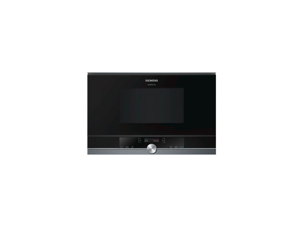 iQ700 Vestavná mikrovlnná trouba 60 x 38 cm černá BF834LGB1