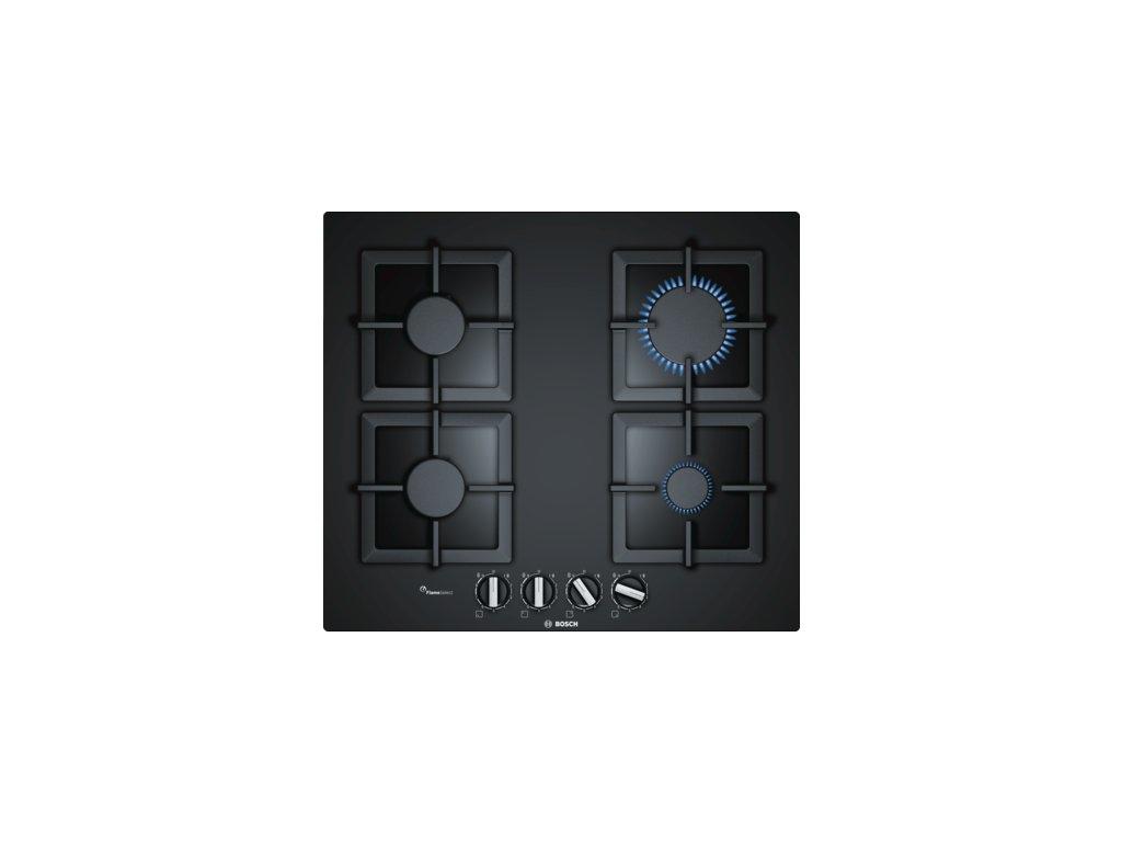 Serie   6 Plynová varná deska 60 cm Tvrzené sklo, Černá PPP6A6B20