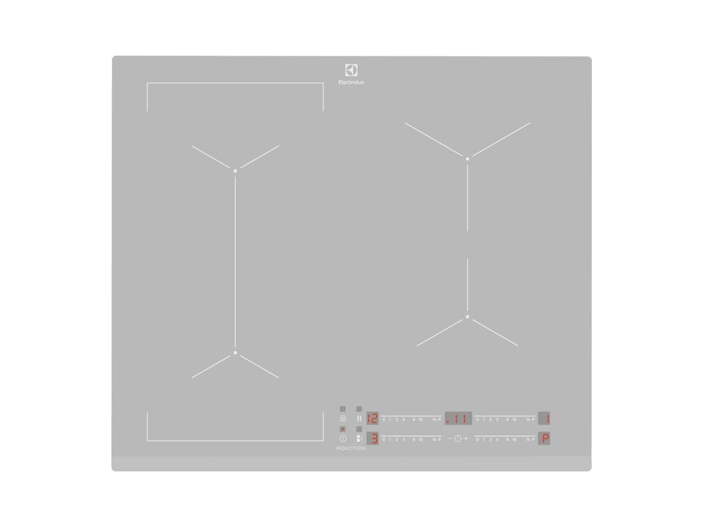 EIV63440BS                                                  Varná deska indukční Bridge 60 cm