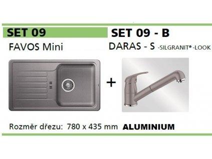 Blanco, SET FAVOS Mini + DARAS - S aluminium SET 09-B-aluminium