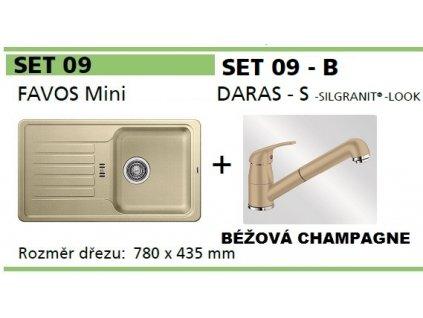 Blanco, SET FAVOS Mini + DARAS - S béžová champagne SET 09-B-béžová champagne