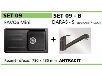 Blanco, SET FAVOS Mini + DARAS - S antracit SET 09-B-antracit