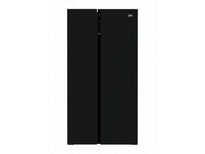 <![CDATA[Beko, Luxusní americká chladnička v provedení z černého skla GN 163130 ZGB]]>