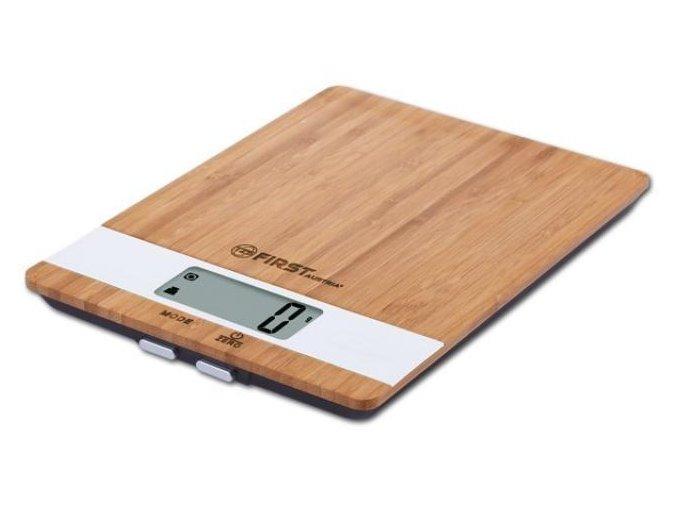 Digitální kuchyňská váha dřevěná First FA-6410