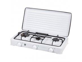 Plynový trojplotýnkový vařič MPM Smile