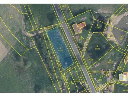 Pozemek Kolinec u Klatov 502 m2